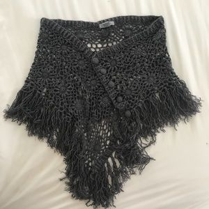 Charcoal Oversized Scarf